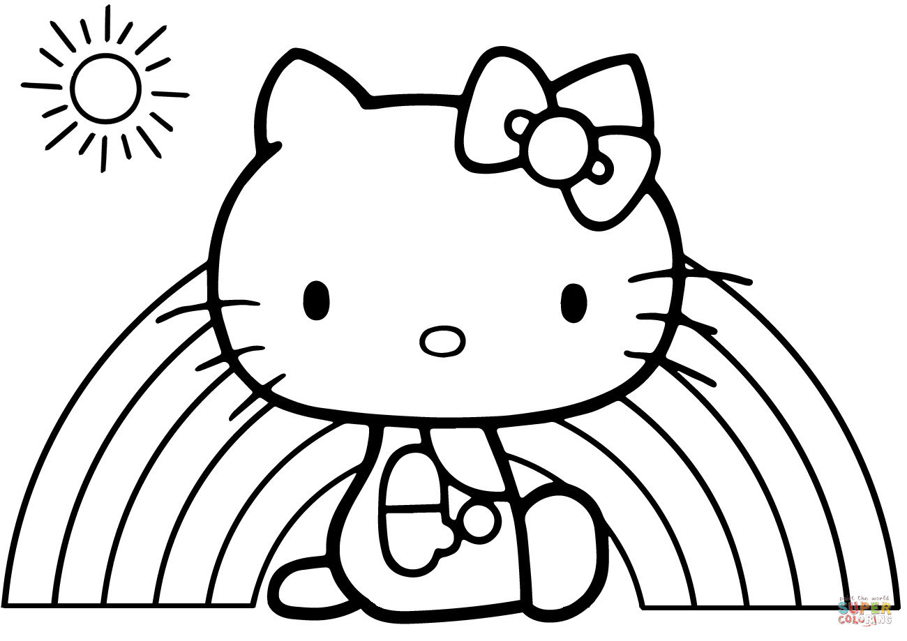 1300x919 Rainbow Coloring Pages For Kids