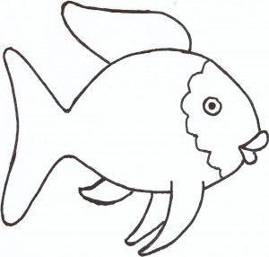300x286 Rainbow Fish Template Pattern Ninos Rainbow Fish Crafts