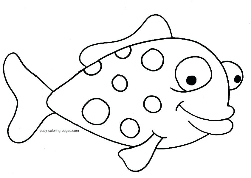 842x598 Fish Drawing For Colouring At Free For Personal Surprising