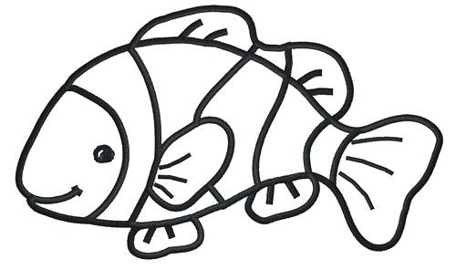 500x296 Fish Outline Drawing Illustration Of A Fish Outline Goldfish