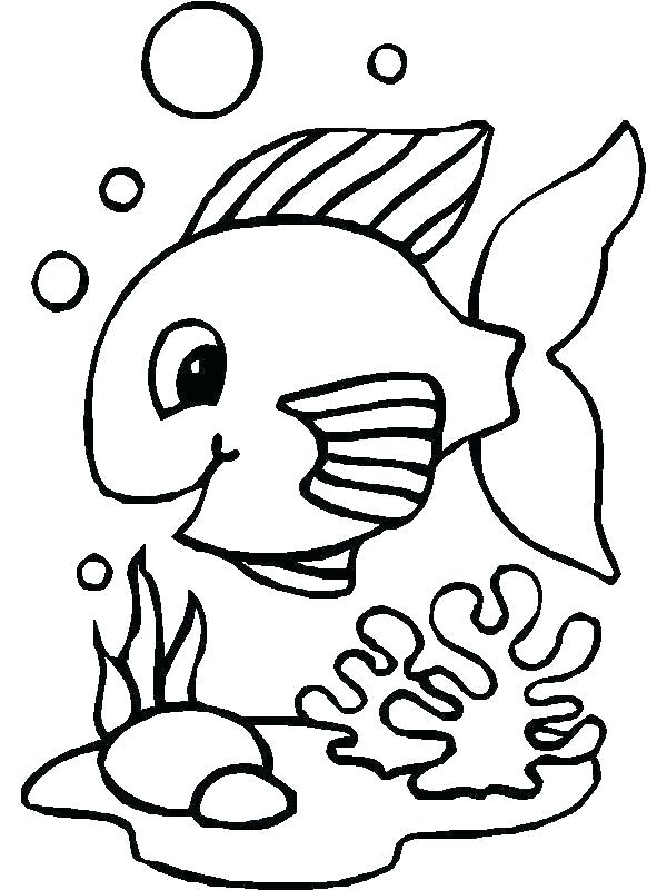 600x800 Fish Outlines Template Rainbow Fish Template To Color