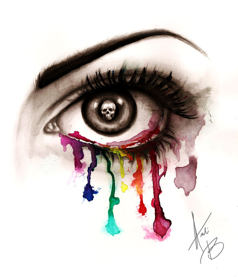 Rainbow Eye Drawing