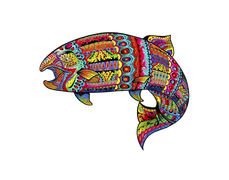 3000x2357 rainbow trout trout art fishing fishing art fish art etsy