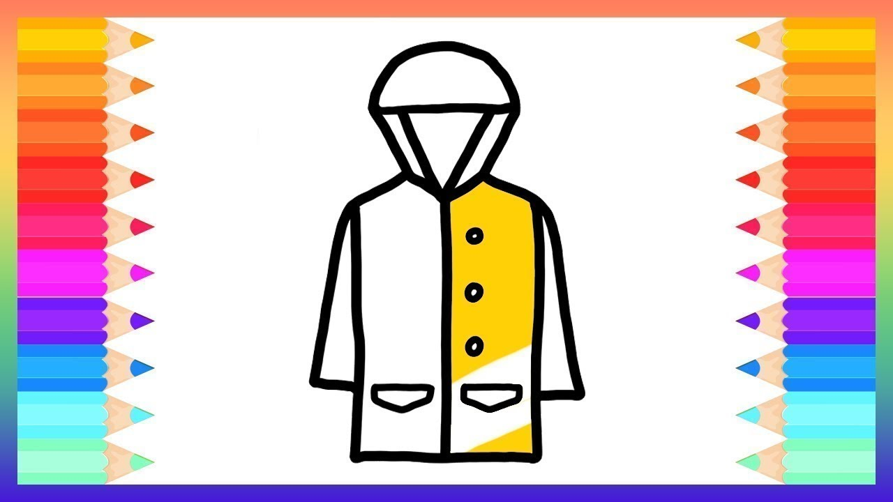 1280x720 how to draw raincoat for baby drawings and coloring book rainbow