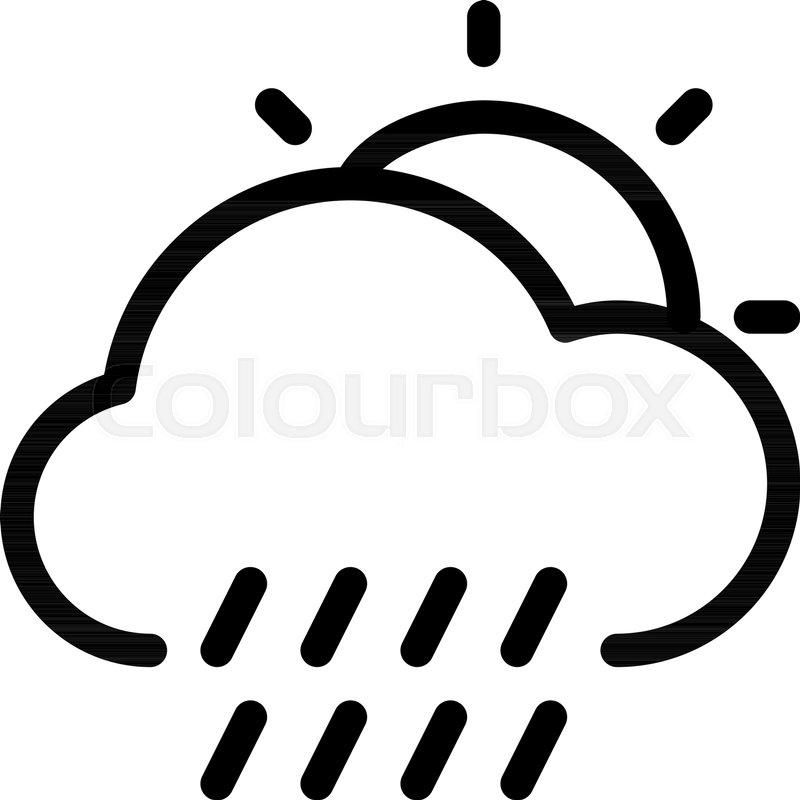 800x800 Daytime Rainy Weather Stock Vector Colourbox