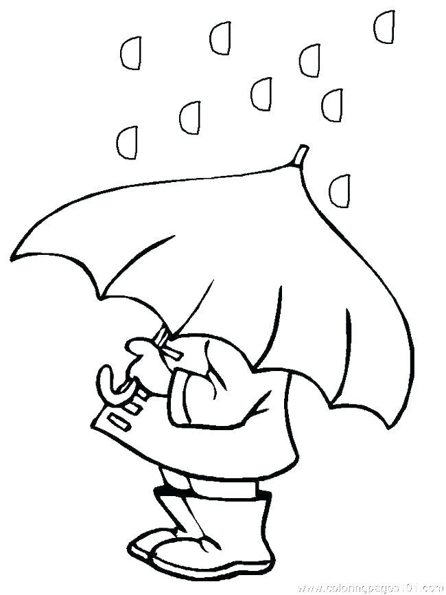 650x866 Rainy Weather Coloring Sheets Pages Rain A Printable Printa
