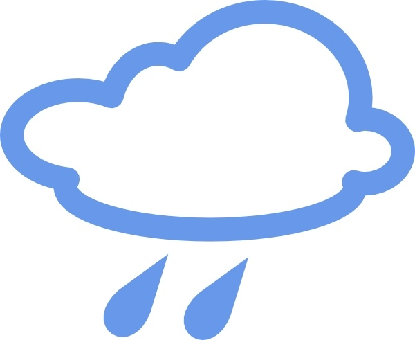 600x491 Rainy Weather Symbols Clip Art Free Vector In Open Office Drawing