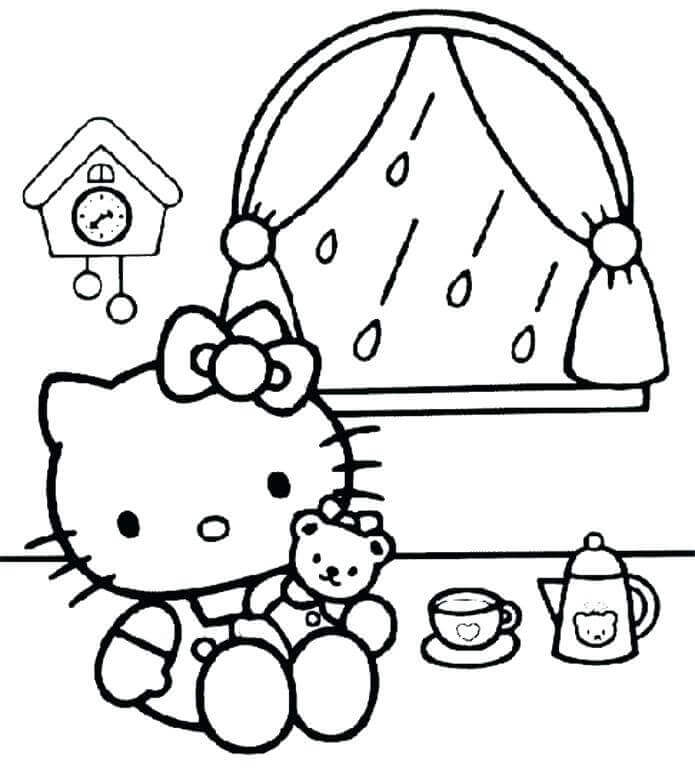 695x768 Free Printable Rainy Day Coloring Pages