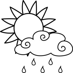 300x298 Rainy Weather Clipart Black And White Clipart Portal
