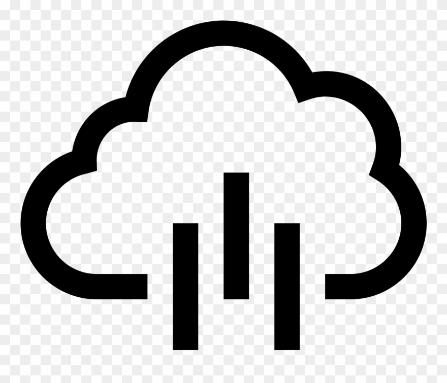 880x755 This Is A Drawing Of A Rain Cloud That Is Flat