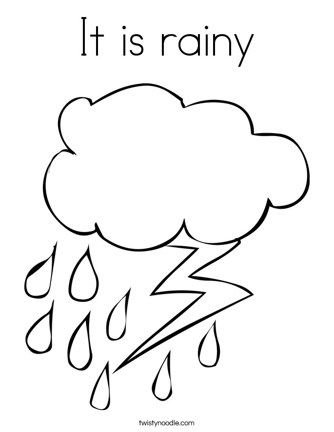 685x886 Weather Coloring Pages Free Printables Best Of Rainy Weather