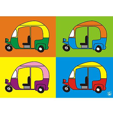 450x450 auto rickshaw tempo poster memoirs auto rickshaw doodle art