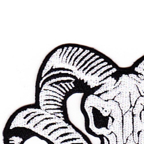 500x500 ram head skull patch specialty patches popular patch