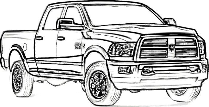 Ram Truck Drawing Free Download Best Ram Truck Drawing On