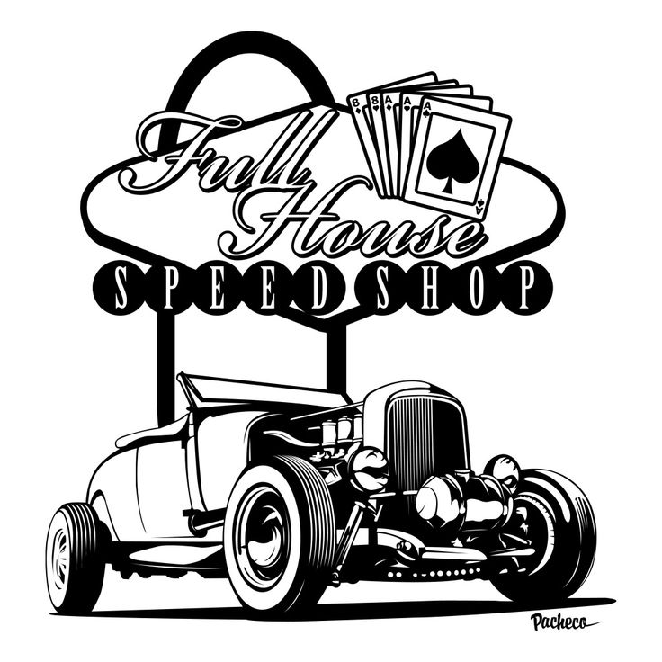 Rat Rod Drawings