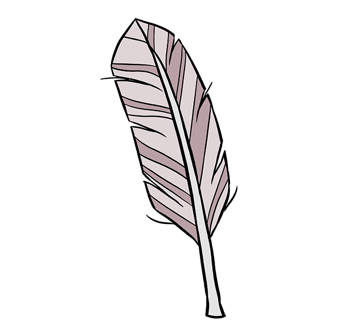 680x678 How To Draw A Feather