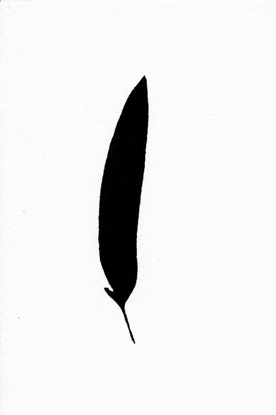 570x857 raven feather hand pulled silkscreen print