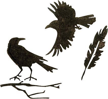 425x390 Sizzix Tholtz Thinlits Die Feather Ravens