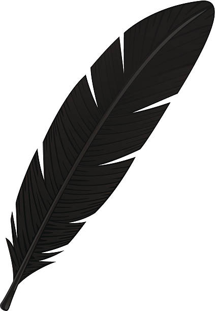 423x612 Collection Of Free Feather Clipart Crow Amusement Clipart
