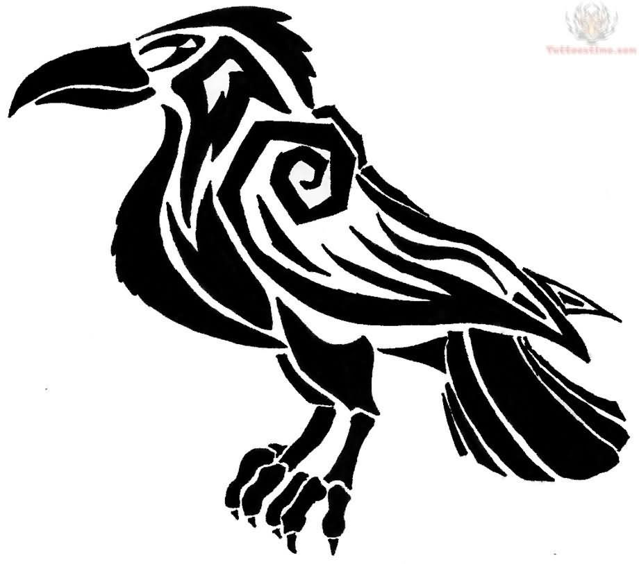 920x813 black celtic raven tattoo design art in raven tattoo