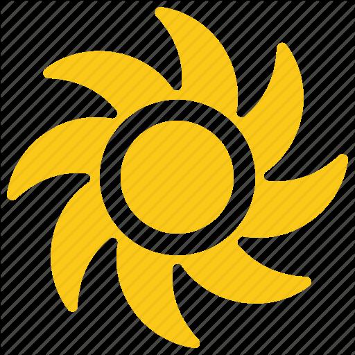 512x512 paper sun, solar sun, sun drawing, sun rays, ventilation symbol icon