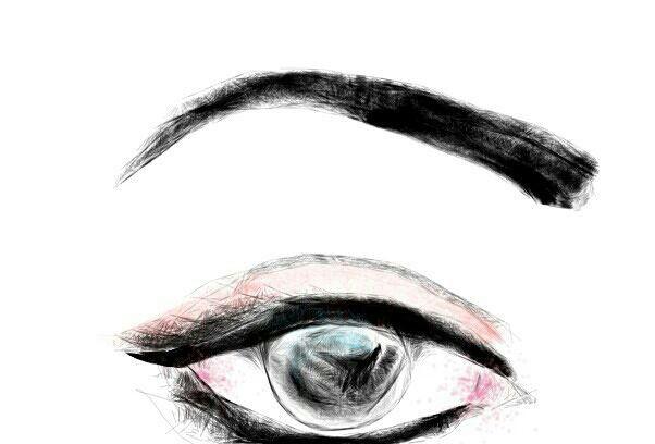 602x408 real eye mobile art eye sketch, draw, mobile art