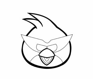 300x256 angry birds space red angry birds coloring pages to print
