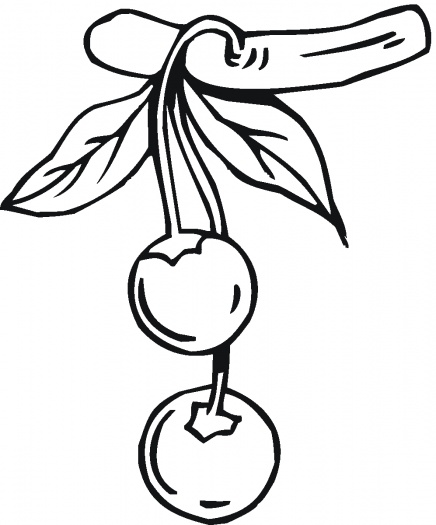 436x525 Cherry Pluras Cherries Coloring Pages Ideas Color Udin