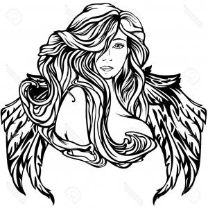300x300 angel wings realistic angel wings are black icon of the wings