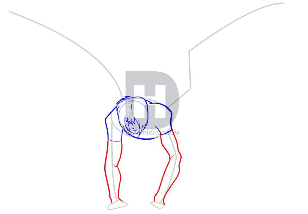 1036x720 How To Draw Anime Wings, Draw An Anime Angel, Step