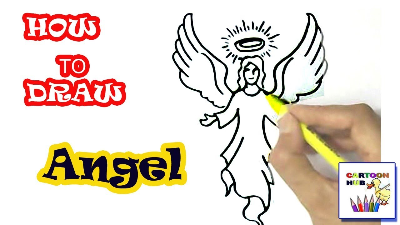 1280x720 How To Draw Angel In Easy St Step