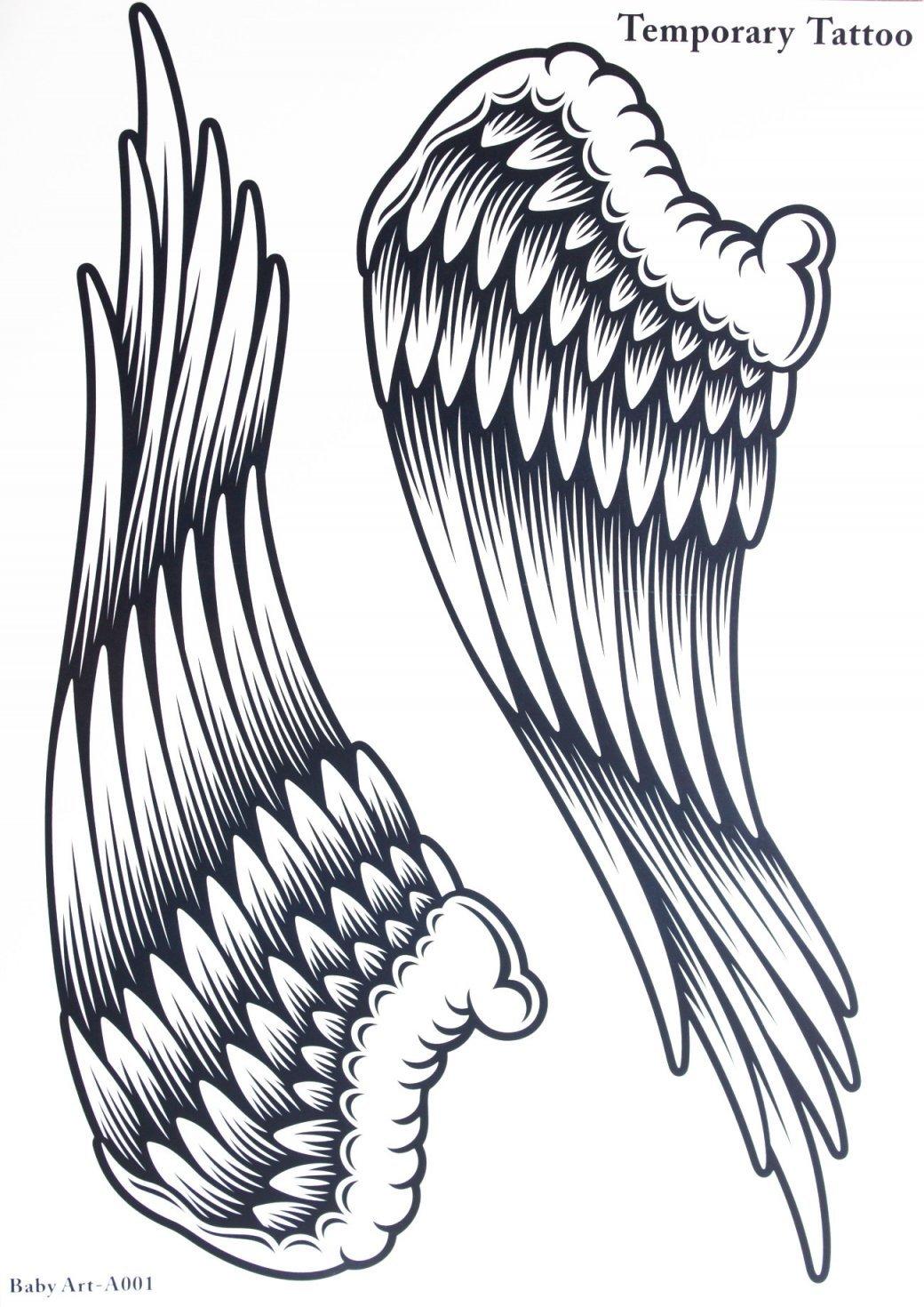 1040x1470 Fake Tattoos Hot Selling Fashionable Large Angel