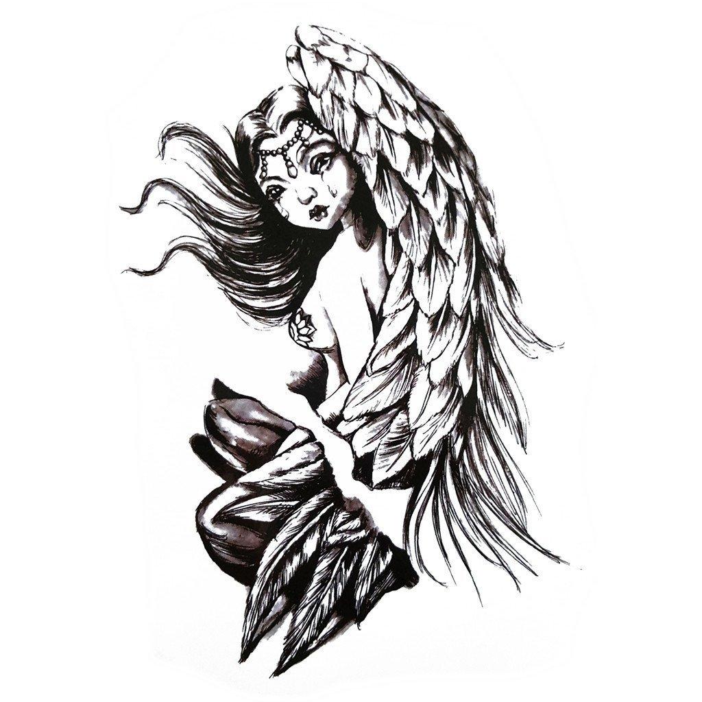 1024x1024 Angel Tear Temporary Tattoo