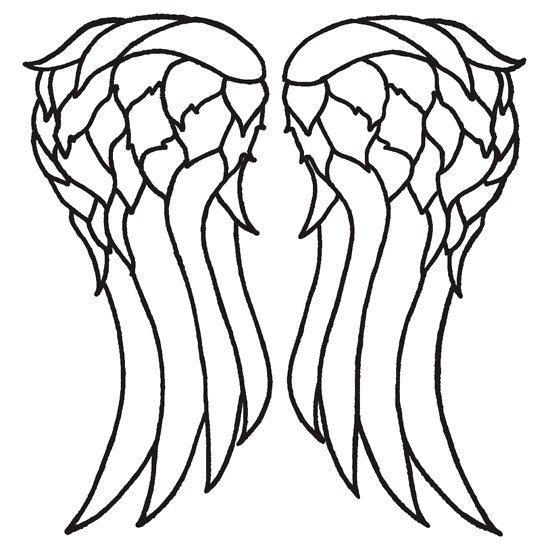 550x550 angel wing template simple angel wings clip art angel wings