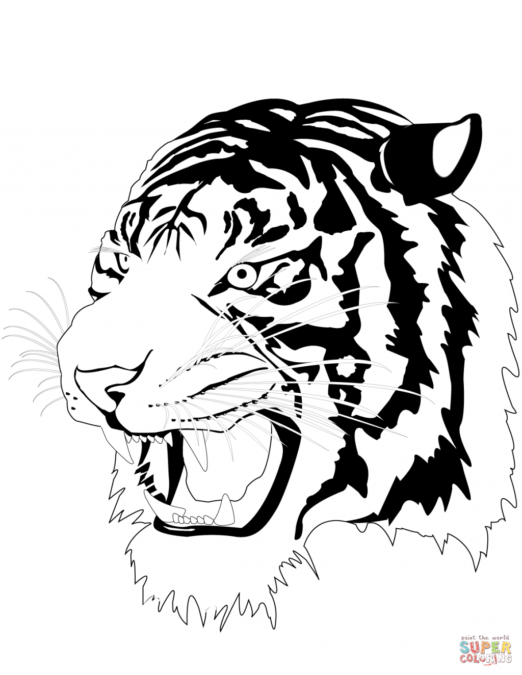 1024x1325 Fresh Coloring Pages Of Tigers Free Tiger Head Realistic Baby