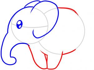 302x227 How To Draw A Realistic Baby Elephant Step