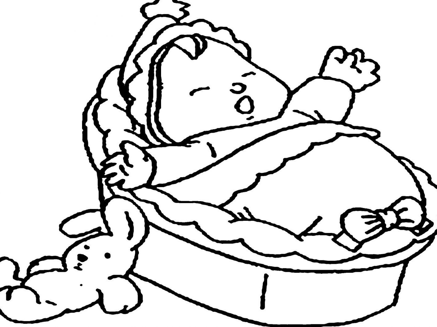1400x1050 Realistic Baby Coloring Pages Animal Fearsome Moses
