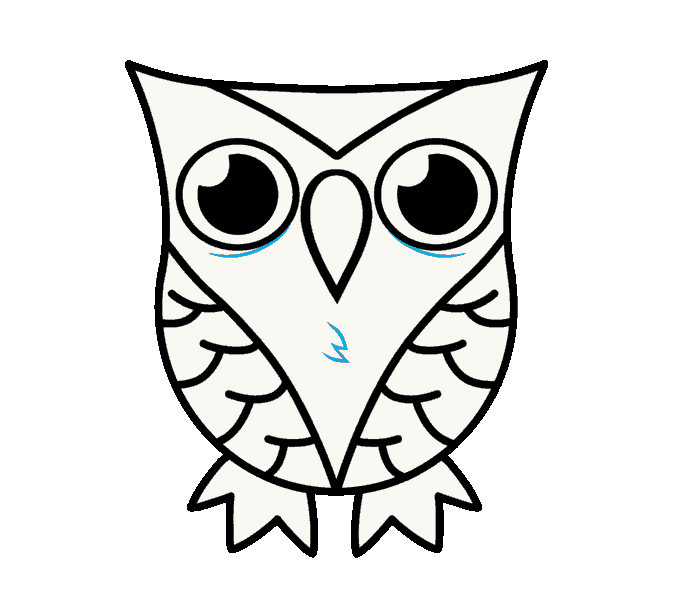 678x599 Easy Owl Drawing