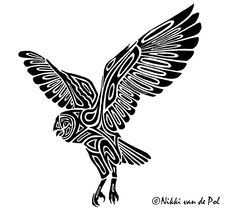 235x215 Best Tribal Owl Tattoos Images Barn Owls, Drawing Owls, Drawings