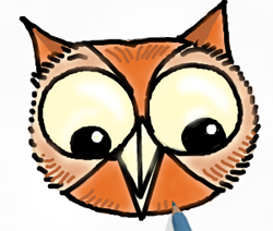 250x212 How To Draw Owls Drawing Tutorials Drawing How To Draw Owls