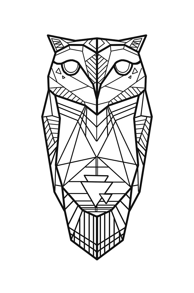 663x1000 Owl Drawing Free Download