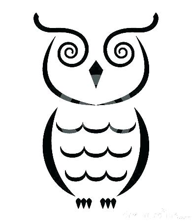 390x450 How To Draw A Owl Easy