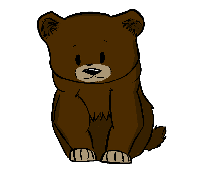 Bear realistic. Drawing free download best