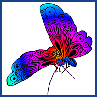200x200 Butterfly Clipart