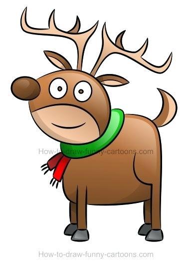 385x534 reindeer draw how to draw a cartoon reindeer cute reindeer drawing
