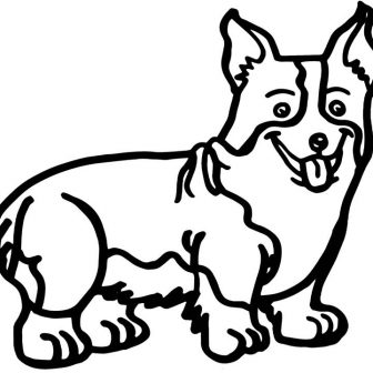 336x336 Corgi Drawing Images Doodle Art Cool Black And White Face Baby