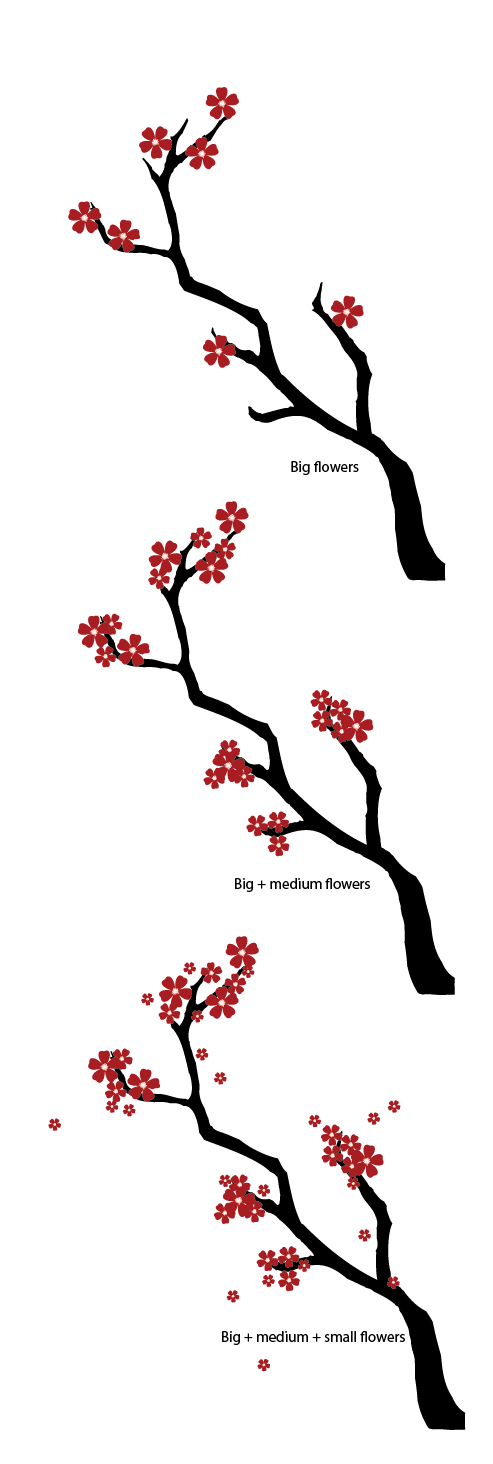 493x1464 Collection Of 'cherry Blossom Tree Branch Drawing' Download More