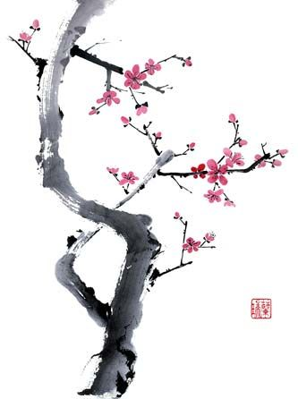 333x446 I Absolutely Love Chinese Brush Painting, Especially Cherry