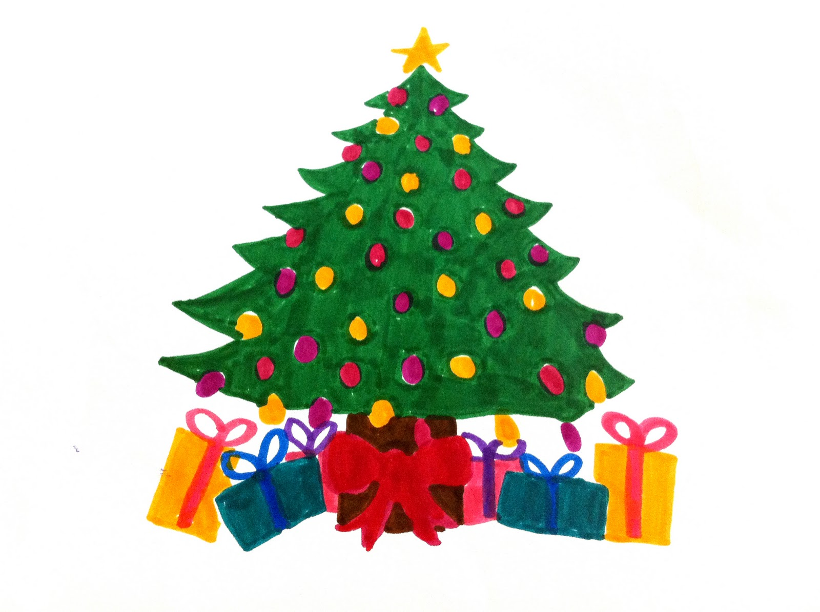1600x1195 christmas tree christmas tree drawings easy christmas tree