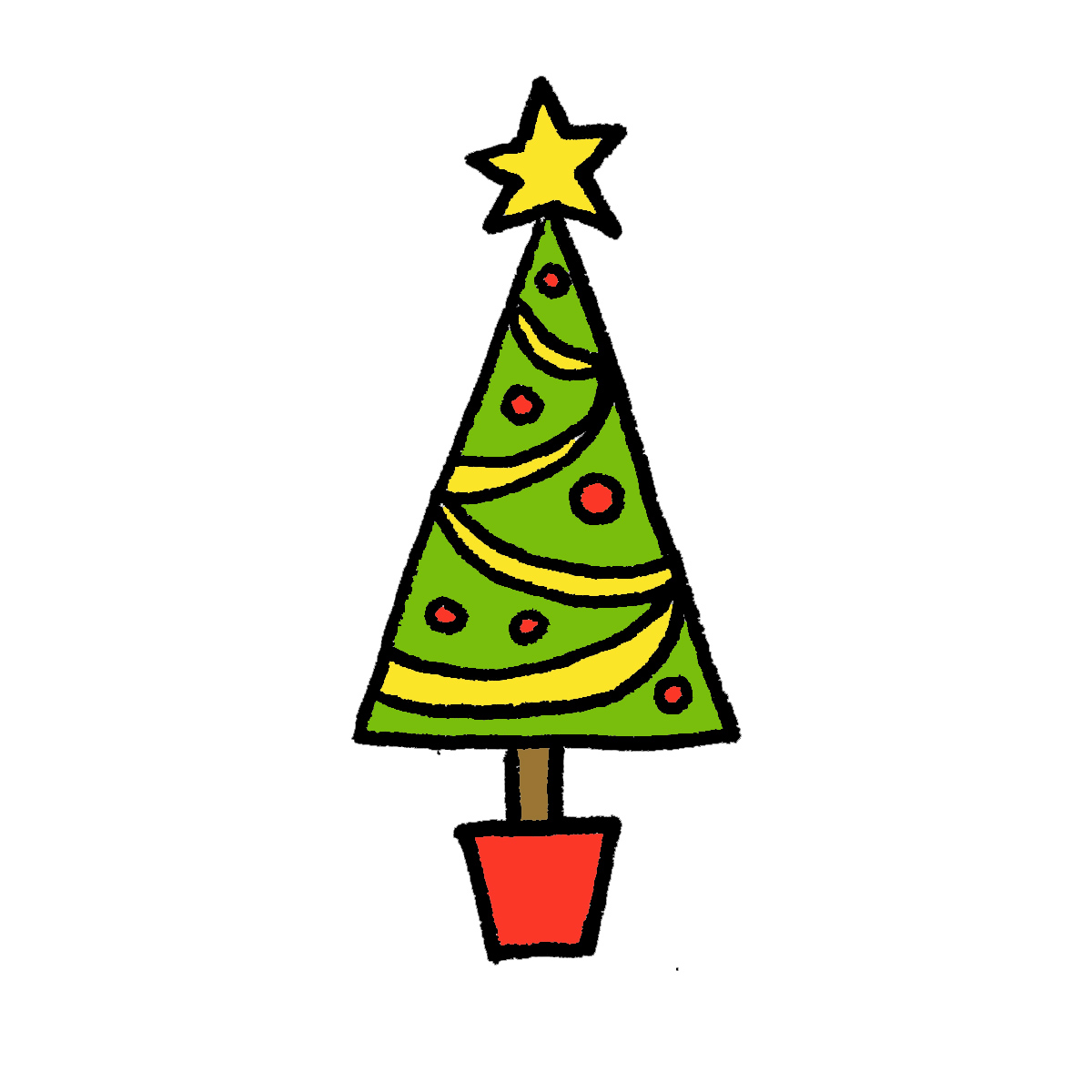 How To Draw A Realistic Christmas Tree.Realistic Christmas Tree Drawing Free Download Best